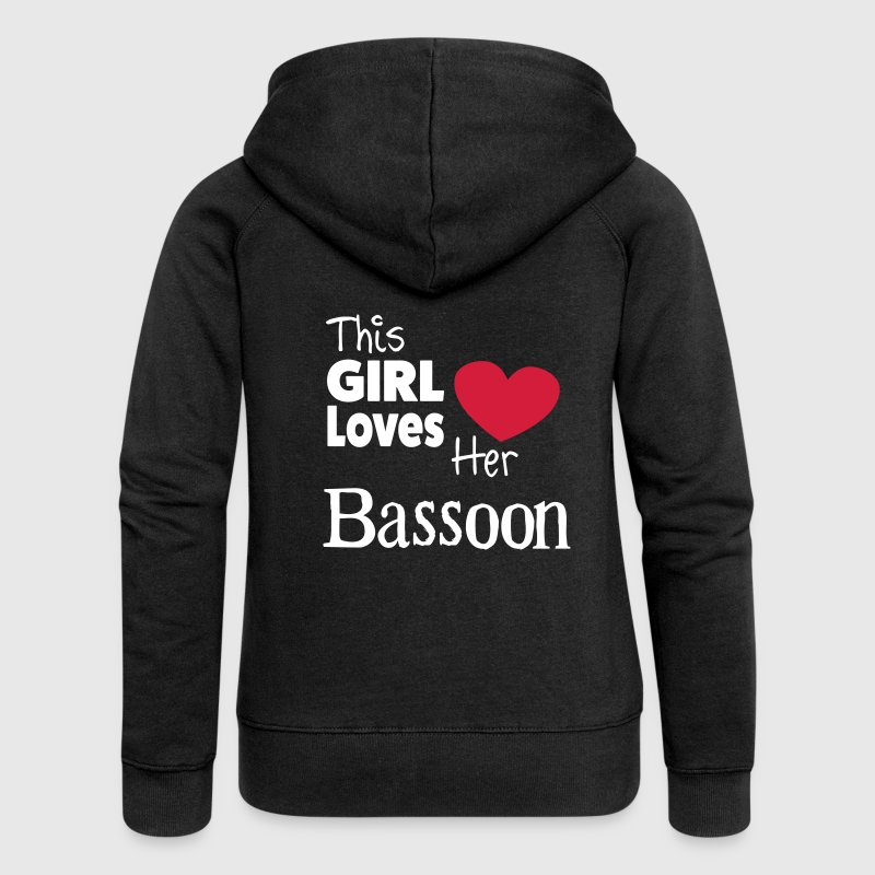 This Girl Loves Her Bassoon - Women's Premium Hooded Jacket