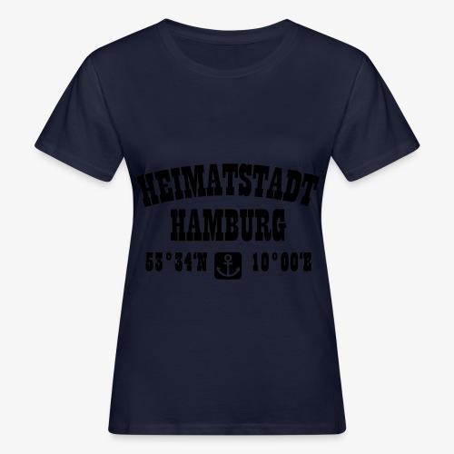 Heimatstadt Hamburg Koordinaten Anker Hoodie - Frauen Bio-T-Shirt