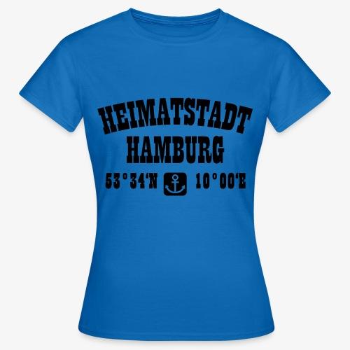 Heimatstadt Hamburg Koordinaten Anker Hoodie - Frauen T-Shirt