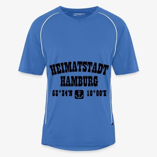 Heimatstadt Hamburg Koordinaten Anker Hoodie - Männer Fußball-Trikot