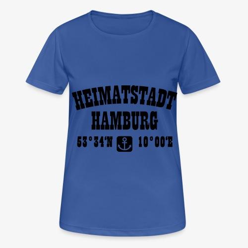 Heimatstadt Hamburg Koordinaten Anker Hoodie - Frauen T-Shirt atmungsaktiv