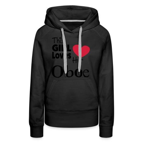This Girl Loves Her Oboe  - Premium hettegenser for kvinner