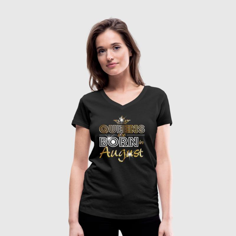 August - Queen - Birthday - 2 Tee shirts - T-shirt col V Femme