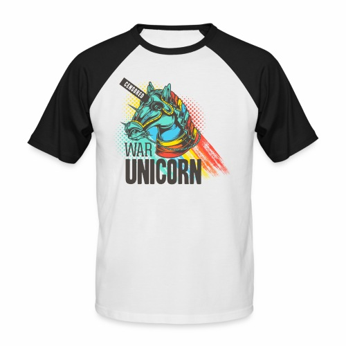 War Unicorn - Männer Baseball-T-Shirt