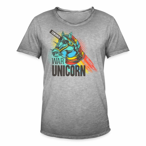 War Unicorn - Männer Vintage T-Shirt
