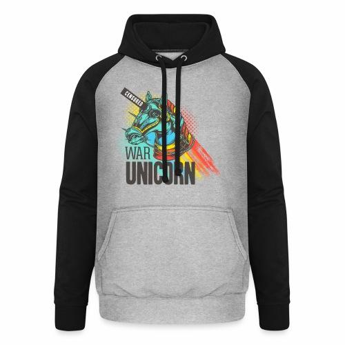 War Unicorn - Unisex Baseball Hoodie