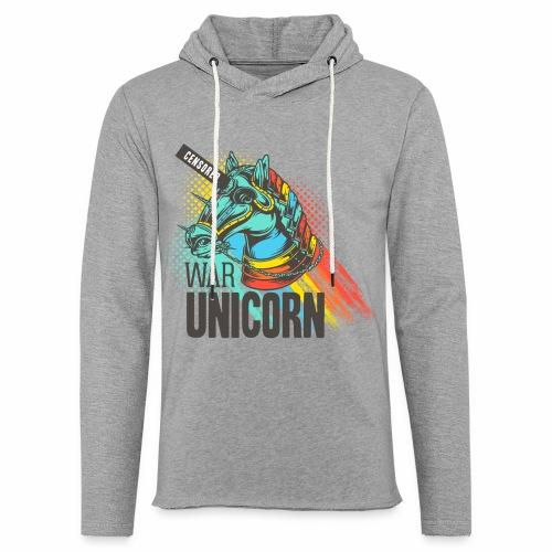 War Unicorn - Leichtes Kapuzensweatshirt Unisex