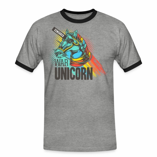 War Unicorn - Männer Kontrast-T-Shirt