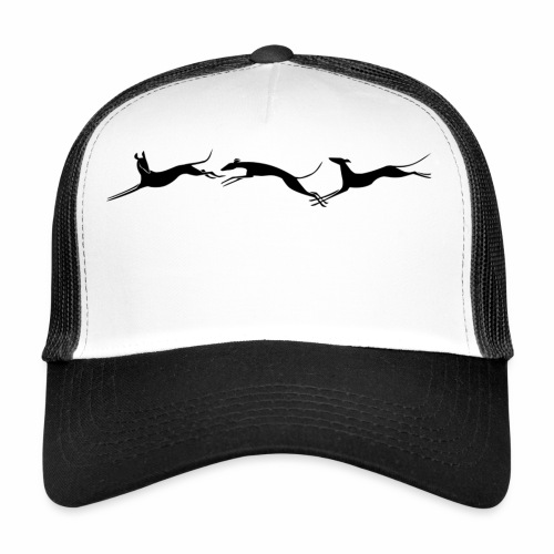 Drei springende Windhunde - Trucker Cap
