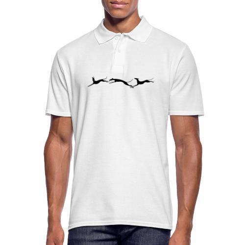 Drei springende Windhunde - Männer Poloshirt