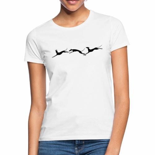 Drei springende Windhunde - Frauen T-Shirt