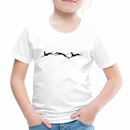 Drei springende Windhunde - Kinder Premium T-Shirt