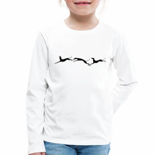 Drei springende Windhunde - Kinder Premium Langarmshirt