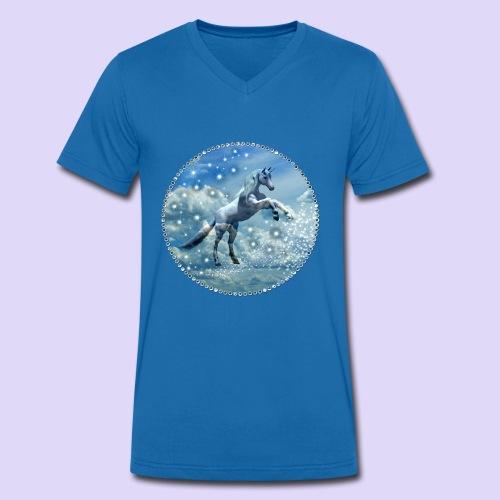 Licorne dans les nuages - T-shirt bio col V Stanley & Stella Homme