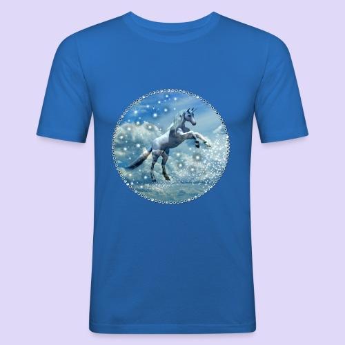 Licorne dans les nuages - T-shirt près du corps Homme