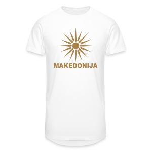 Македонија, makedonija, Sonce, Сонце - Männer Urban Longshirt