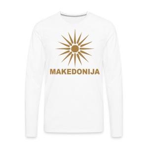 Македонија, makedonija, Sonce, Сонце - Männer Premium Langarmshirt