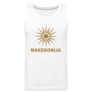 Македонија, makedonija, Sonce, Сонце - Männer Premium Tank Top