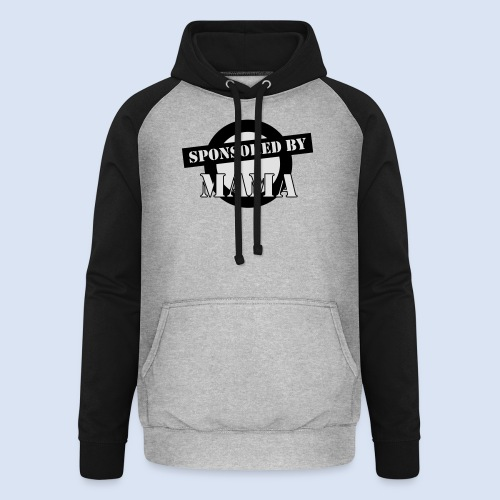 SPONSORING - Sponsored by Mama - Unisex Baseball Hoodie