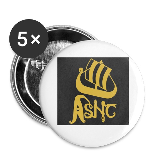 ASNC ship logo coasters - Buttons small 25 mm