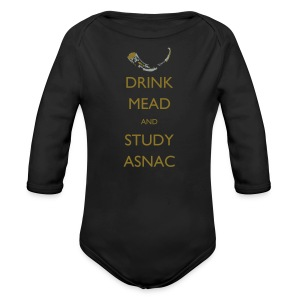Drink Mead and Study ASNC cushion - Longsleeve Baby Bodysuit