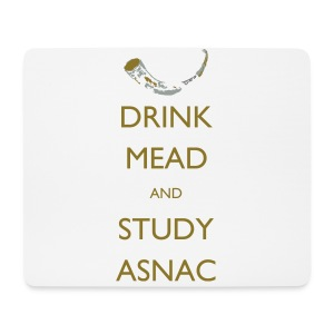 Drink Mead and Study ASNC cushion - Mouse Pad (horizontal)