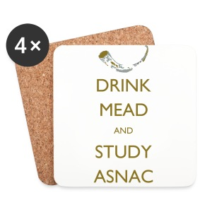 Drink Mead and Study ASNC cushion - Coasters (set of 4)