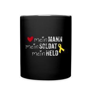 Mein Mann, mein Soldat, mein Held  - Tasse einfarbig