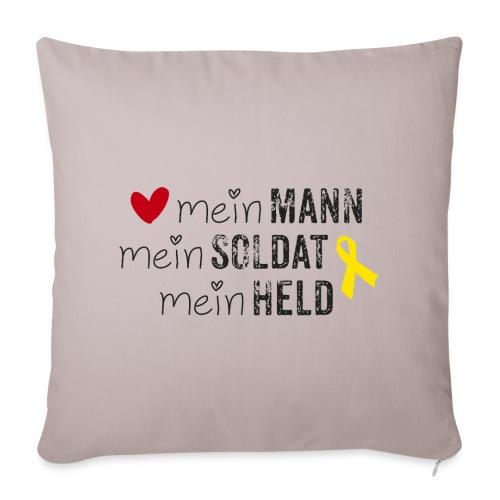 Mein Mann, mein Soldat, mein Held  - Sofakissenbezug 44 x 44 cm