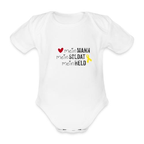 Mein Mann, mein Soldat, mein Held  - Baby Bio-Kurzarm-Body