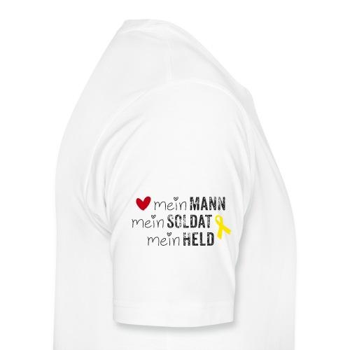 Mein Mann, mein Soldat, mein Held  - Männer Premium T-Shirt