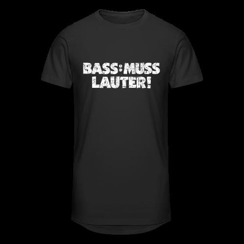 BASS: MUSS LAUTER S-5XL T-Shirt - Männer Urban Longshirt