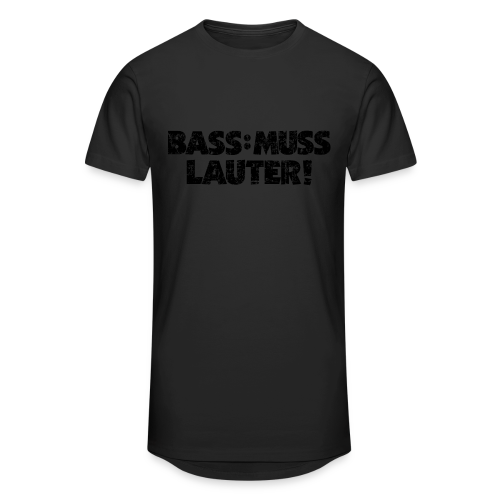BASS: MUSS LAUTER Vintage T-Shirt - Männer Urban Longshirt