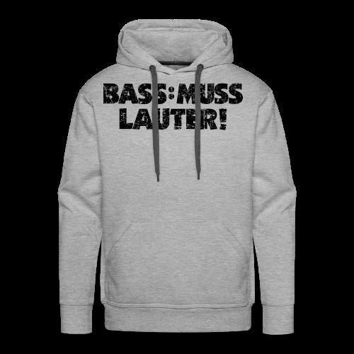 BASS: MUSS LAUTER Vintage T-Shirt - Männer Premium Hoodie