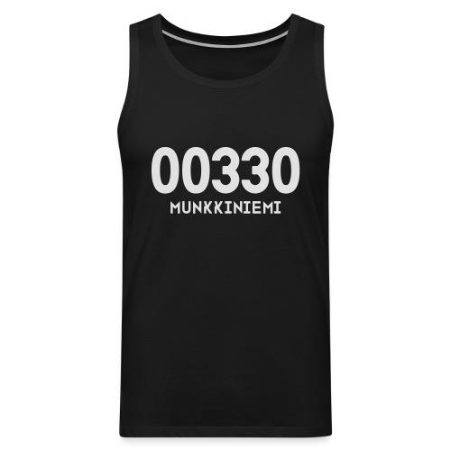00330 MUNKKINIEMI - Miesten premium hihaton paita
