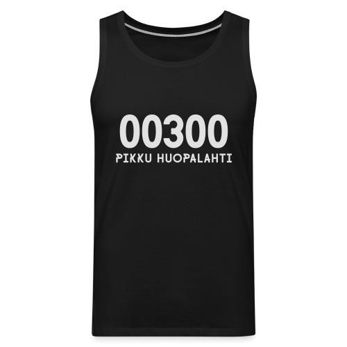00300 PIKKU HUOPALAHTI - Miesten premium hihaton paita