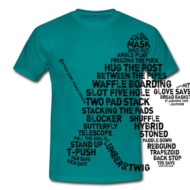 Ice Hockey Goalie Terminology Men's T-Shirt