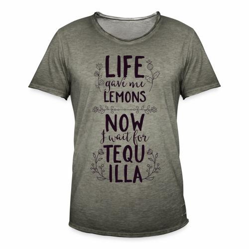 Tequilla - Männer Vintage T-Shirt