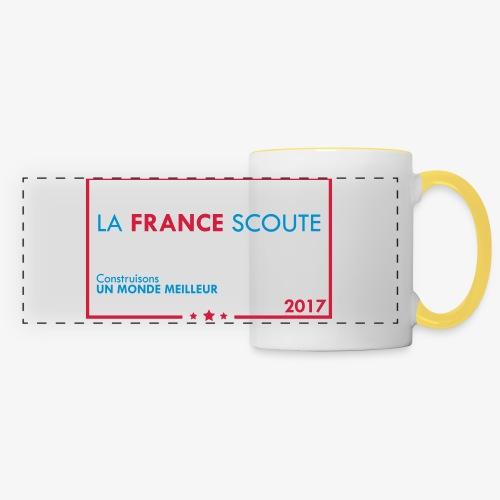 Mug La france scoute  - Mug panoramique contrasté et blanc