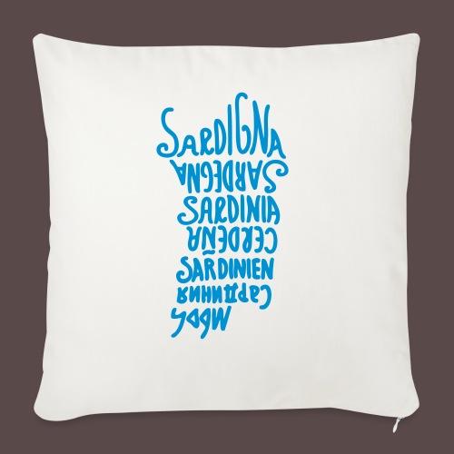 Sardegna, silhouette lingue (donna) - Copricuscino per divano, 45 x 45 cm