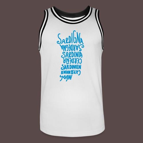 Sardegna, silhouette lingue (donna) - Maglia da basket per uomo