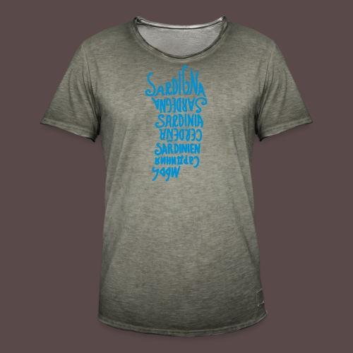 Sardegna, silhouette lingue (donna) - Maglietta vintage da uomo