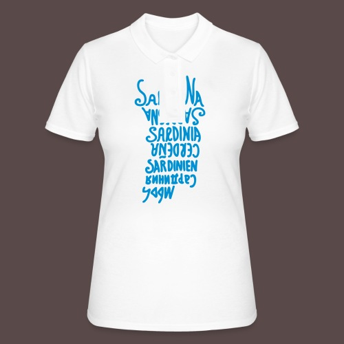 Sardegna, silhouette lingue (donna) - Women's Polo Shirt
