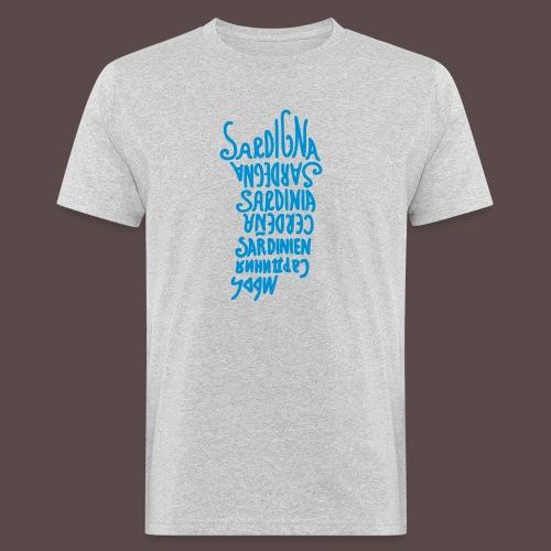 Sardegna, silhouette lingue (donna) - T-shirt ecologica da uomo