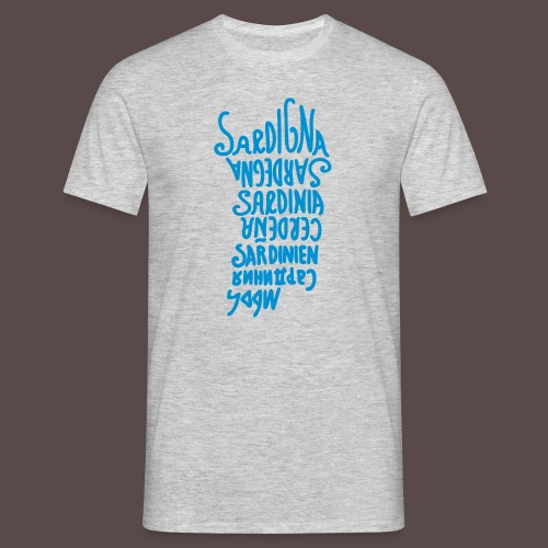 Sardegna, silhouette lingue (donna) - Maglietta da uomo