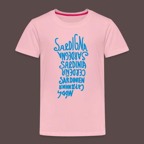 Sardegna, silhouette lingue (donna) - Maglietta Premium per bambini