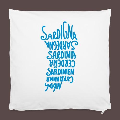 Sardegna, silhouette lingue (donna) - Copricuscino 40 x 40 cm