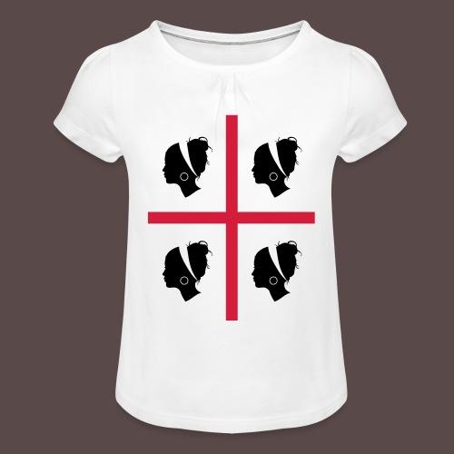 Sardegna, 4 more - Maglietta da ragazza con arricciatura