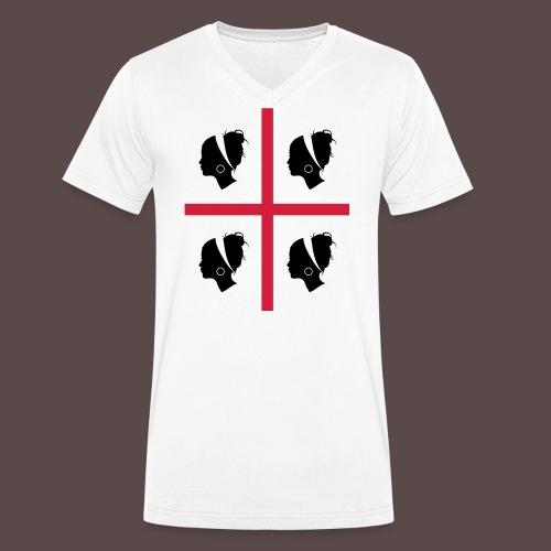 Sardegna, 4 more - T-shirt ecologica da uomo con scollo a V di Stanley & Stella