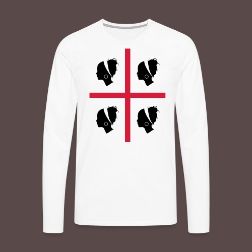 Sardegna, 4 more - Maglietta Premium a manica lunga da uomo